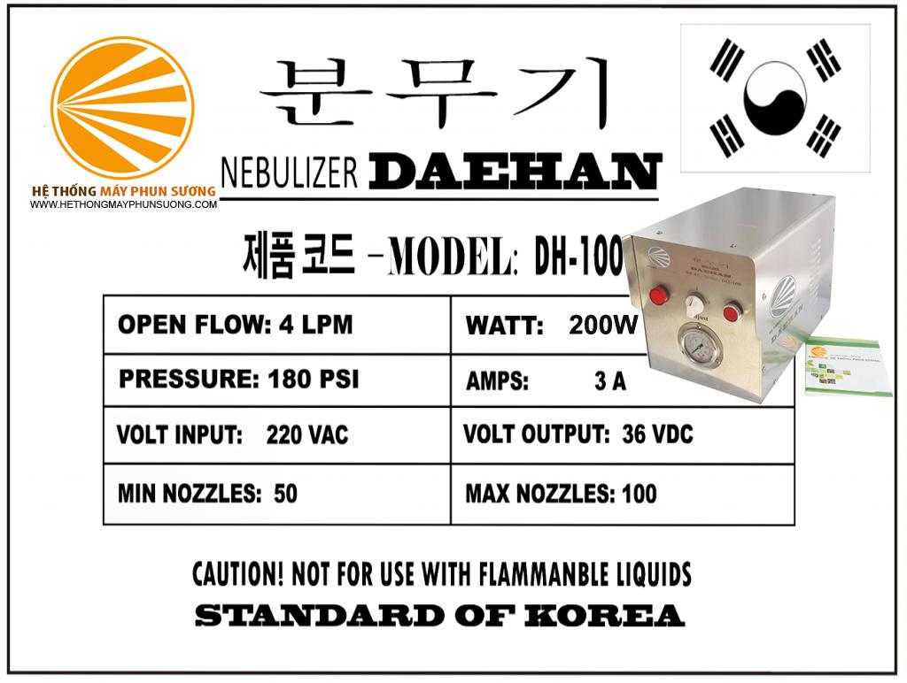 Máy phun sương Daehan DH-100