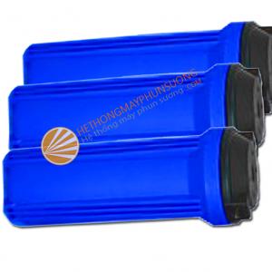 Bình lọc nước màu xanh dùng cho hệ thống máy phun sương