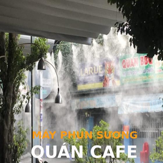 Máy phun sương làm mát quán cà phê