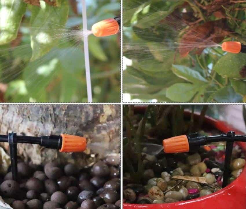 Béc nhựa cam tưới cây, tưới lan điều chỉnh được