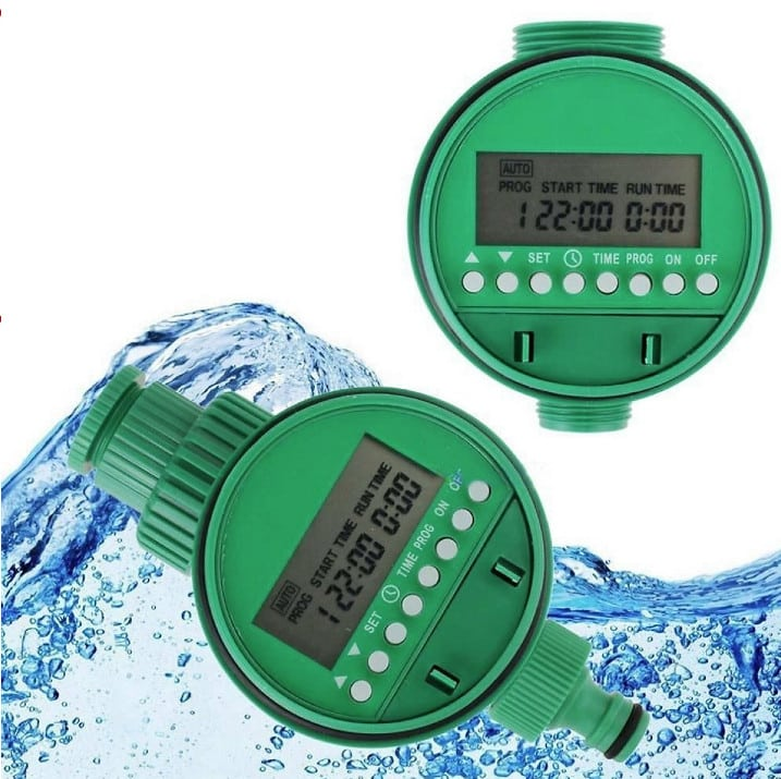 Van khóa nước hẹn giờ tưới cây thông minh dùng pin