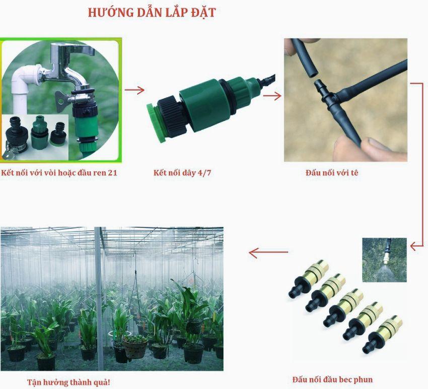 Bộ KIT tưới cây tưới lan 20 béc đồng-01