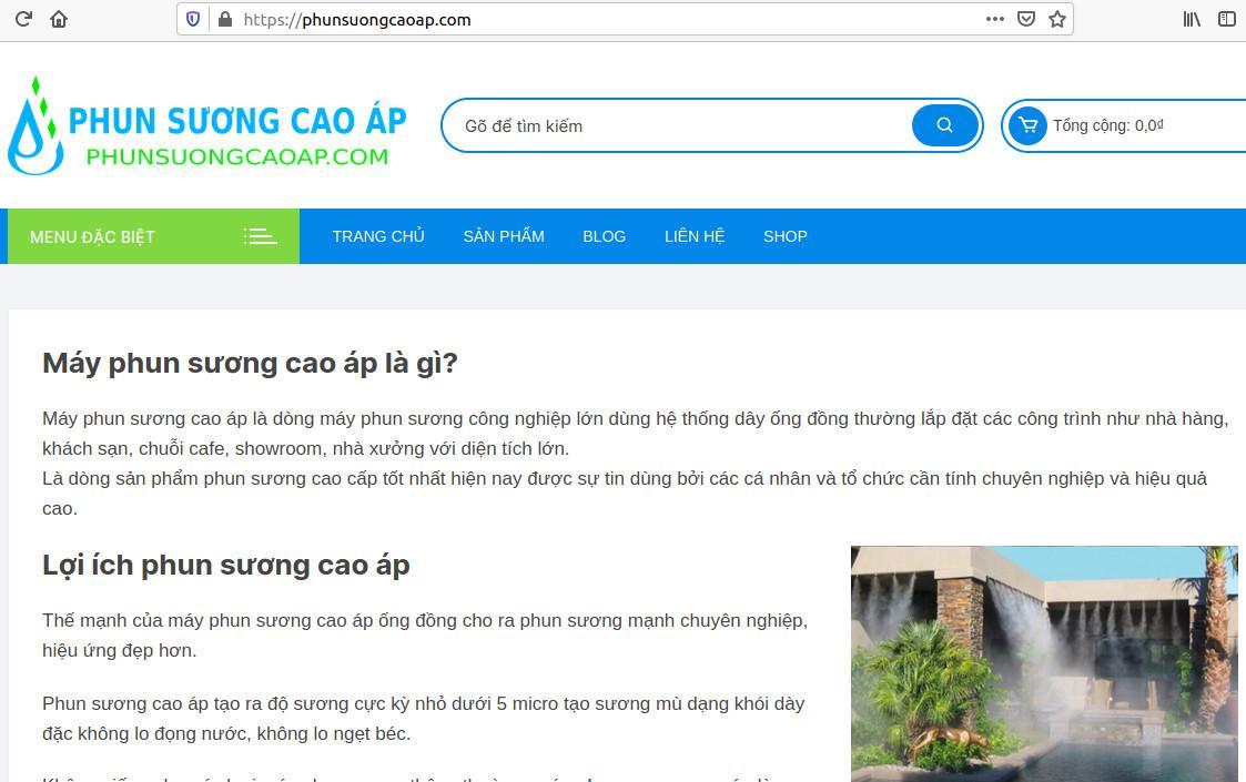 Phun sương cao áp - phunsuongcaoap.com